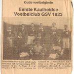 Lees het artikel: Voetbalclub GSV 1923
